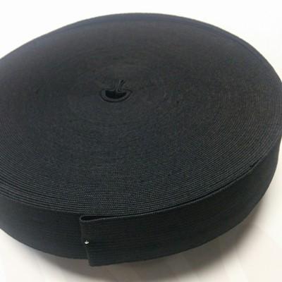 Плетен ластин 3 см черен х 25 м
