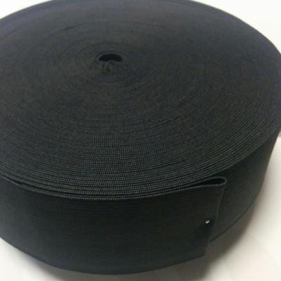 Плетен ластин 5 см черен х 25 м
