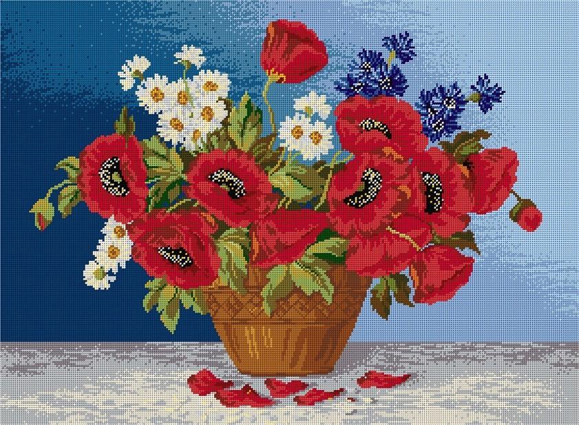Ваза с полски цветя 1:1 / 1:4