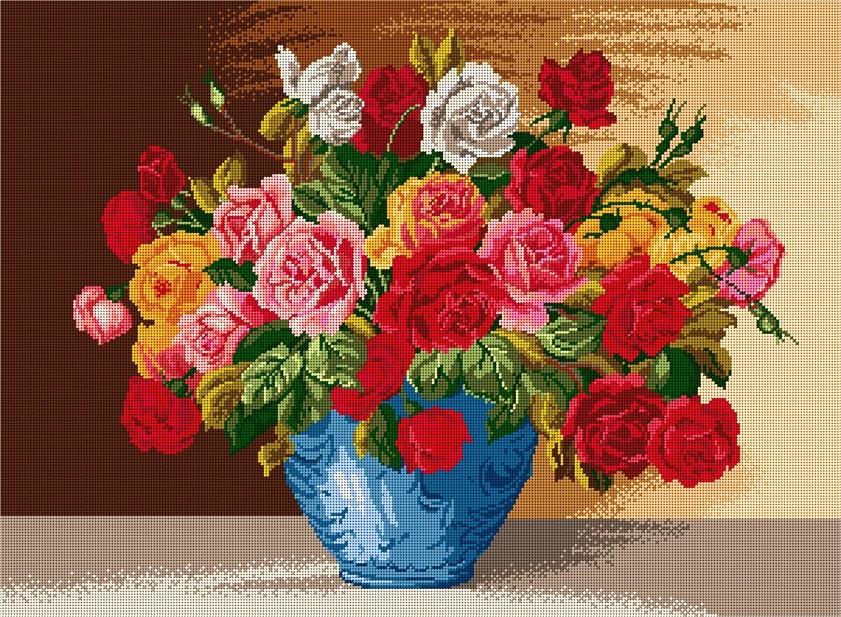 Ваза с рози 1:1 / 1:4