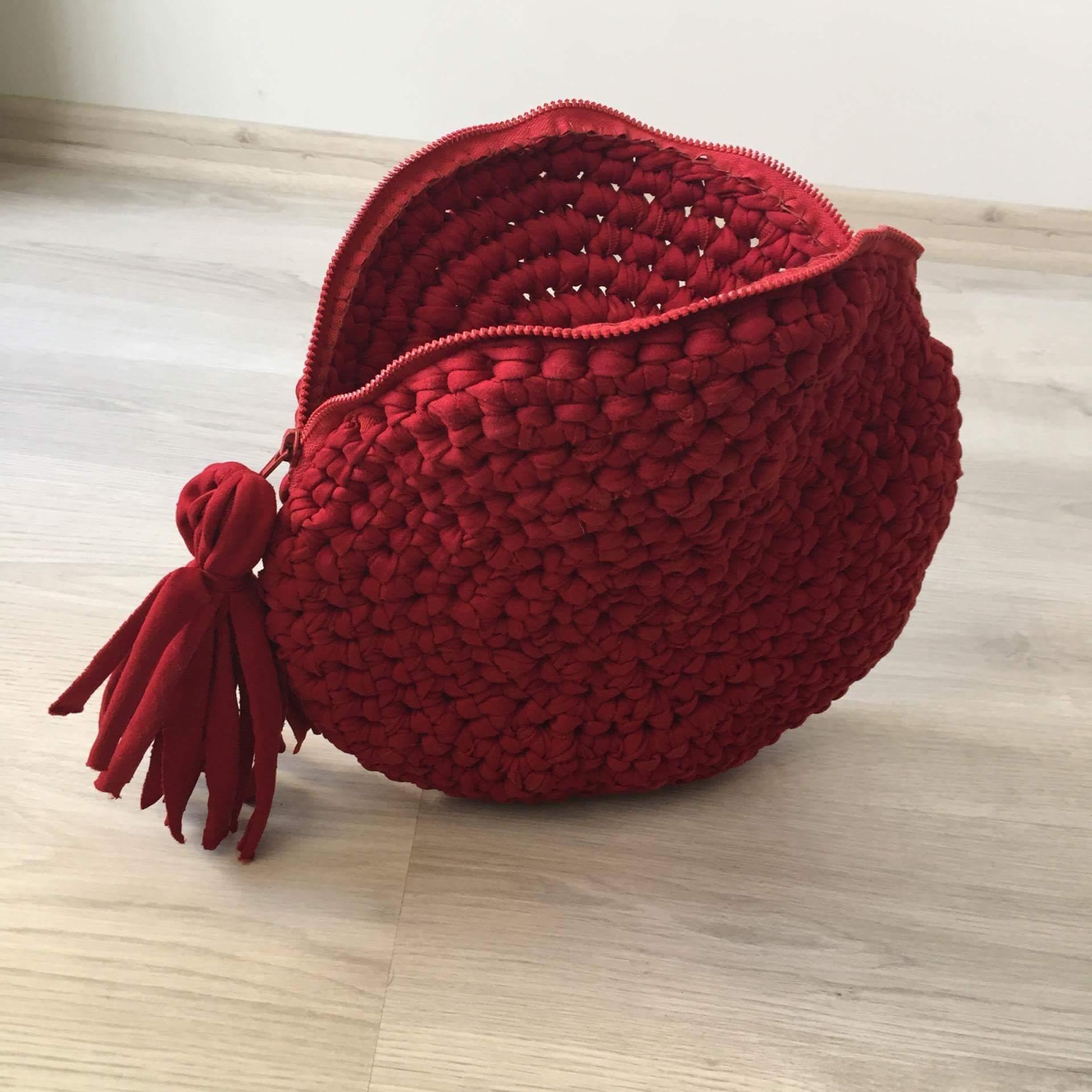 Червена чанта Maccheroni