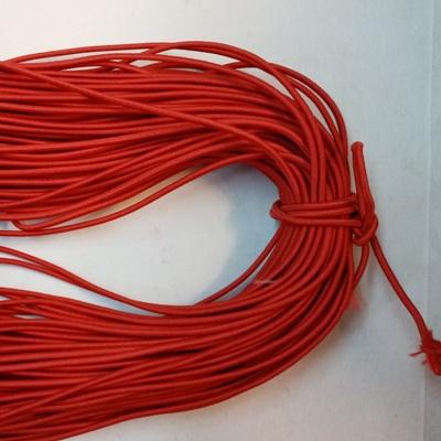 Ластик кръгъл (объл) 3 мм червен 100м