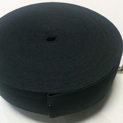 Плетен ластин 4 см черен х 25 м