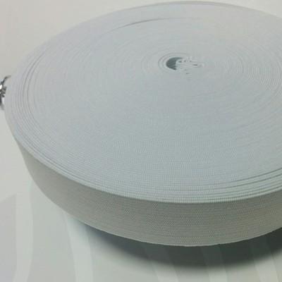 Плетен ластин 3 см бял х 25 м