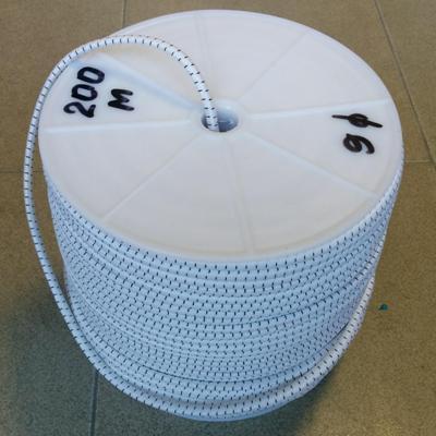Ластик кръгъл (объл) 6 мм бял/черен